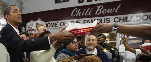 Obama at Ben's Chili Bowl