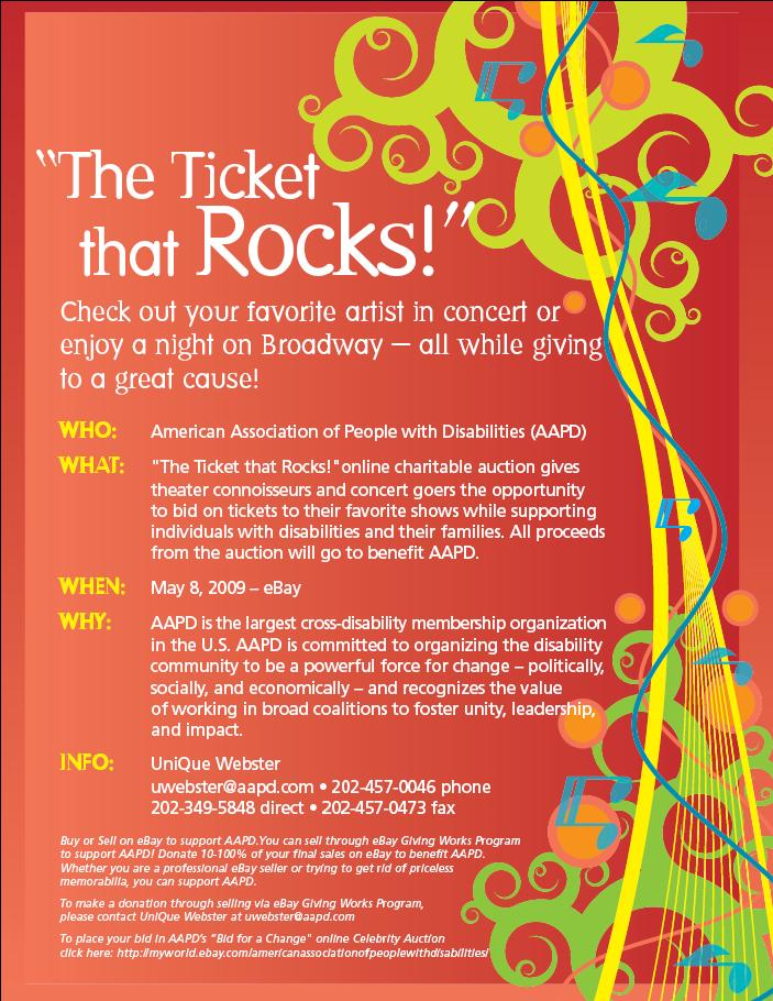 Ticket that Rocks Flyer