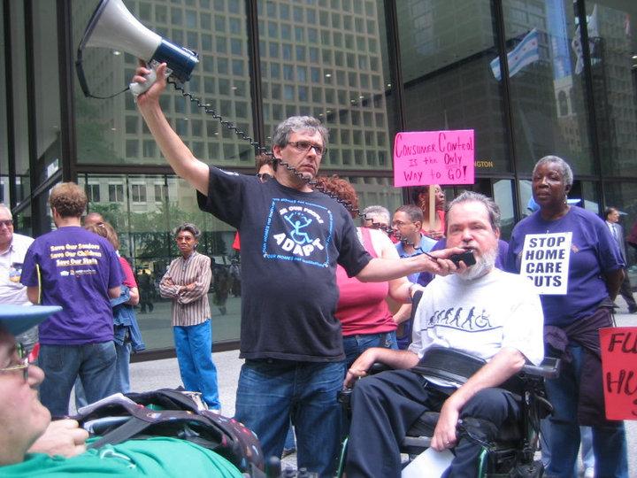 Accessliving chicago protest